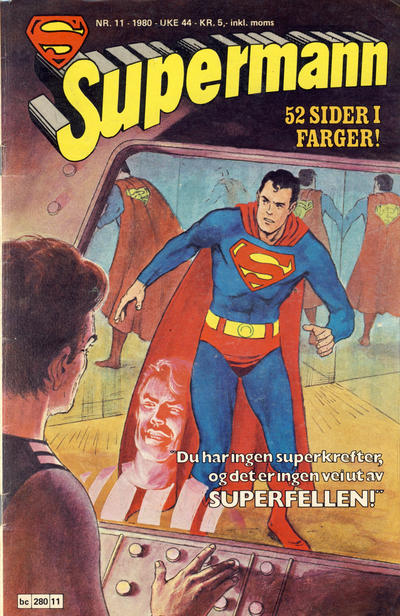 Cover for Supermann (Semic, 1977 series) #11/1980