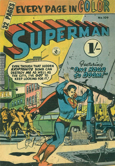Cover for Superman (K. G. Murray, 1947 series) #109