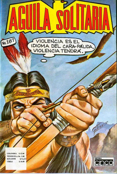 Cover for Aguila Solitaria (Editora Cinco, 1976 ? series) #187