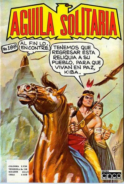 Cover for Aguila Solitaria (Editora Cinco, 1976 ? series) #188