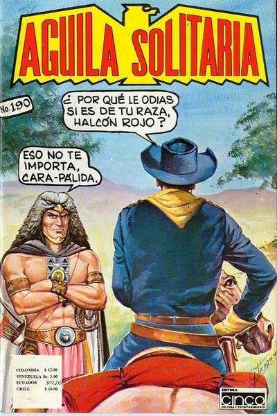 Cover for Aguila Solitaria (Editora Cinco, 1976 ? series) #190