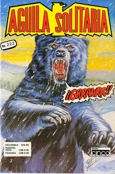 Cover for Aguila Solitaria (Editora Cinco, 1976 ? series) #222