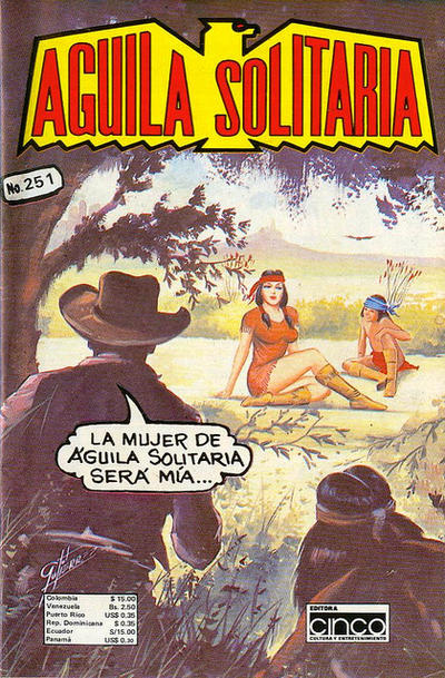 Cover for Aguila Solitaria (Editora Cinco, 1976 ? series) #251