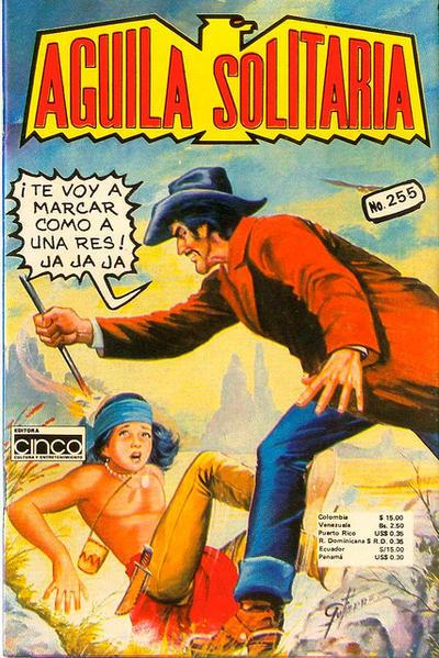 Cover for Aguila Solitaria (Editora Cinco, 1976 ? series) #255