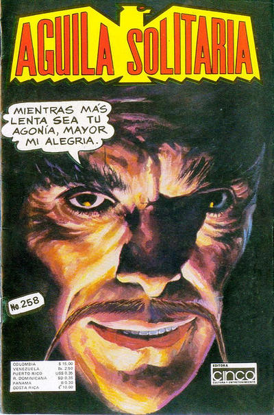 Cover for Aguila Solitaria (Editora Cinco, 1976 ? series) #258