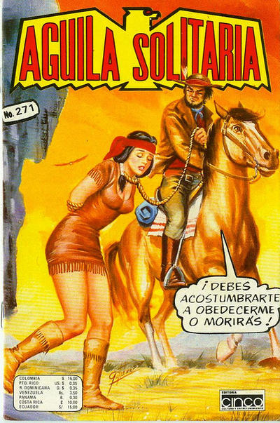 Cover for Aguila Solitaria (Editora Cinco, 1976 ? series) #271