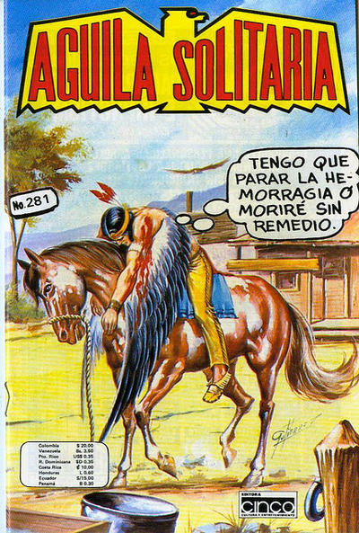 Cover for Aguila Solitaria (Editora Cinco, 1976 ? series) #281