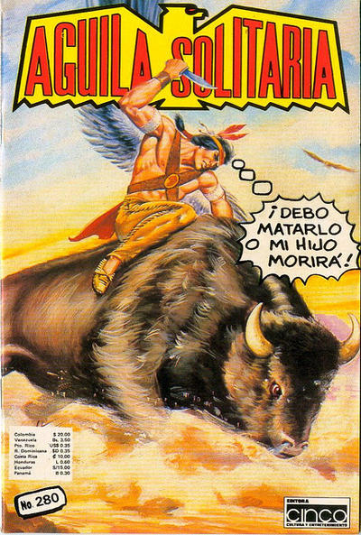 Cover for Aguila Solitaria (Editora Cinco, 1976 ? series) #280