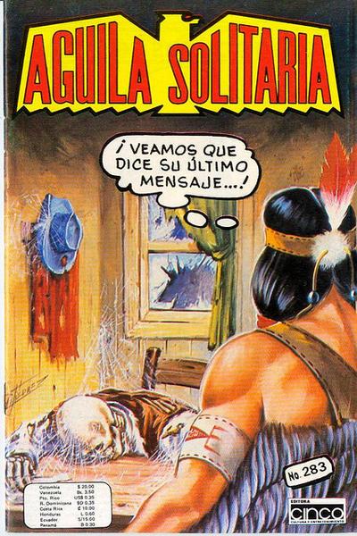 Cover for Aguila Solitaria (Editora Cinco, 1976 ? series) #283