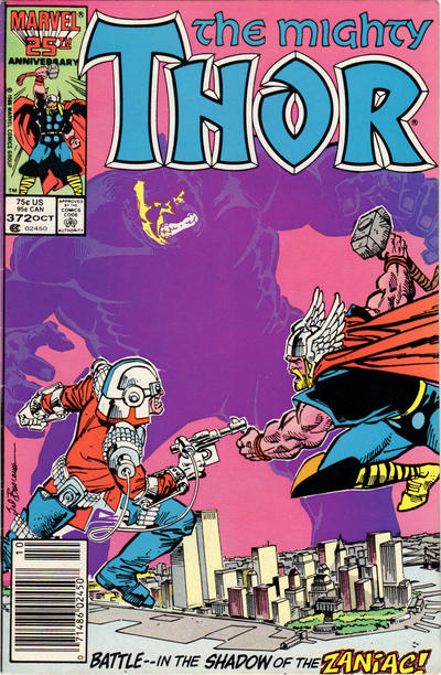 Cover for Thor (Marvel, 1966 series) #372 [Newsstand Edition]