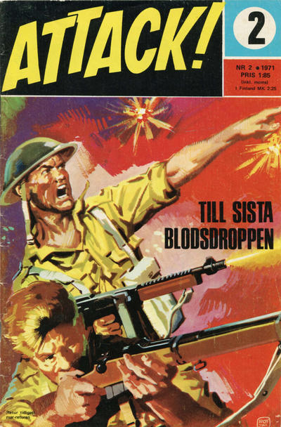 Cover for Attack (Semic, 1967 series) #2/1971