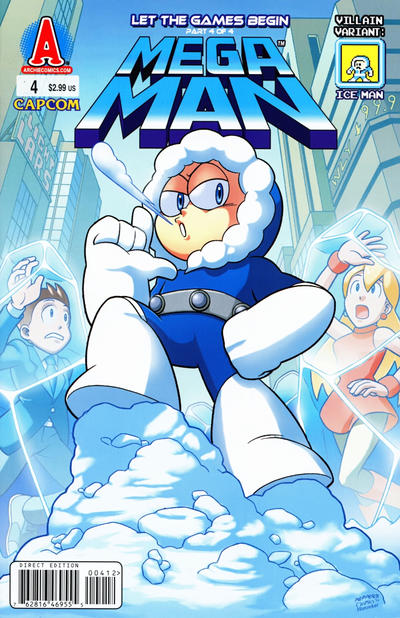 Cover for Mega Man (Archie, 2011 series) #4 [Ice Man Villain Variant by Jamal Peppers]