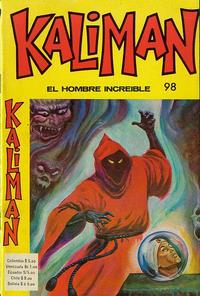 Cover Thumbnail for Kaliman (Editora Cinco, 1976 series) #98