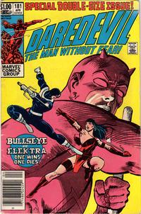 Cover Thumbnail for Daredevil (Marvel, 1964 series) #181 [Newsstand]