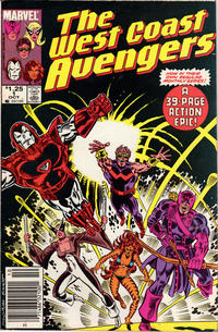 Cover Thumbnail for West Coast Avengers (Marvel, 1985 series) #1 [Newsstand]