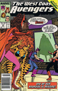 Cover Thumbnail for West Coast Avengers (Marvel, 1985 series) #42 [Newsstand]