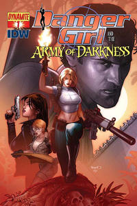 Cover Thumbnail for Danger Girl and the Army of Darkness (Dynamite Entertainment, 2011 series) #1 [Paul Renaud Variant Cover]