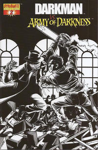 Cover Thumbnail for Darkman vs. The Army of Darkness (Dynamite Entertainment, 2006 series) #2 [George Pérez Black & White Retailer Incentive Variant Cover]