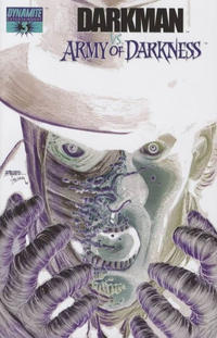 Cover Thumbnail for Darkman vs. The Army of Darkness (Dynamite Entertainment, 2006 series) #3 [George Pérez Negative Art Retailer Incentive Variant Cover]