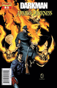 Cover Thumbnail for Darkman vs. The Army of Darkness (Dynamite Entertainment, 2006 series) #3 [Nick Bradshaw Cover]