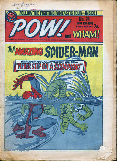 Cover for Pow! and Wham! (IPC, 1968 series) #74