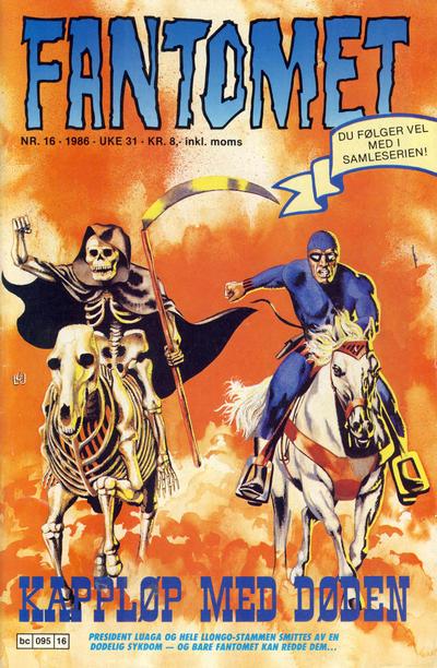 Cover for Fantomet (Semic, 1976 series) #16/1986