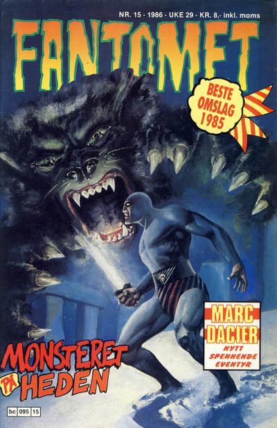 Cover for Fantomet (Semic, 1976 series) #15/1986