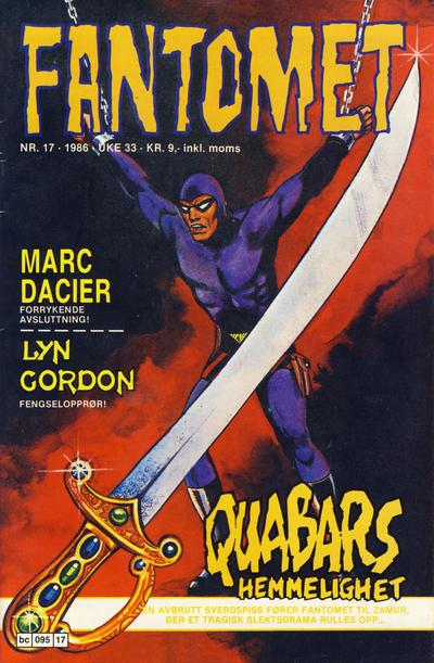 Cover for Fantomet (Semic, 1976 series) #17/1986