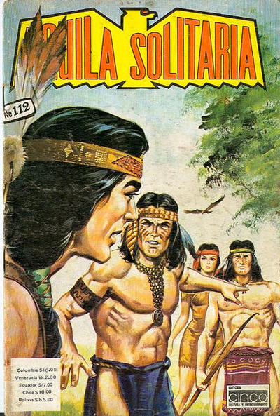 Cover for Aguila Solitaria (Editora Cinco, 1976 ? series) #112