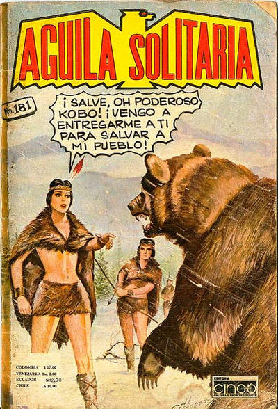 Cover for Aguila Solitaria (Editora Cinco, 1976 ? series) #181