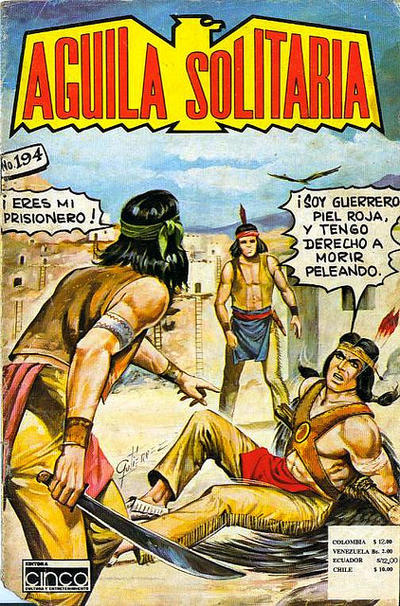 Cover for Aguila Solitaria (Editora Cinco, 1976 ? series) #194