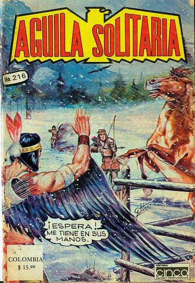 Cover for Aguila Solitaria (Editora Cinco, 1976 ? series) #216