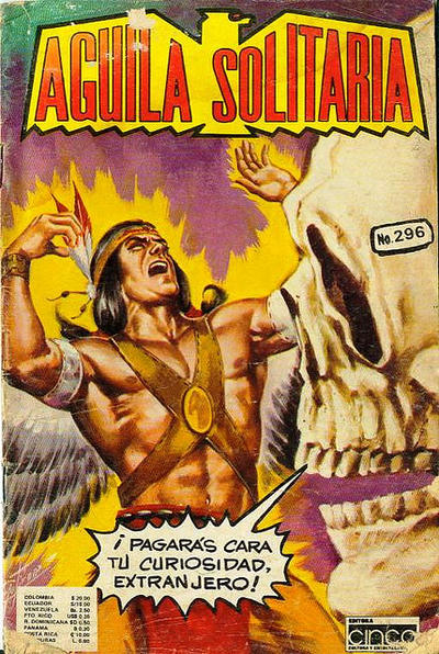 Cover for Aguila Solitaria (Editora Cinco, 1976 ? series) #296