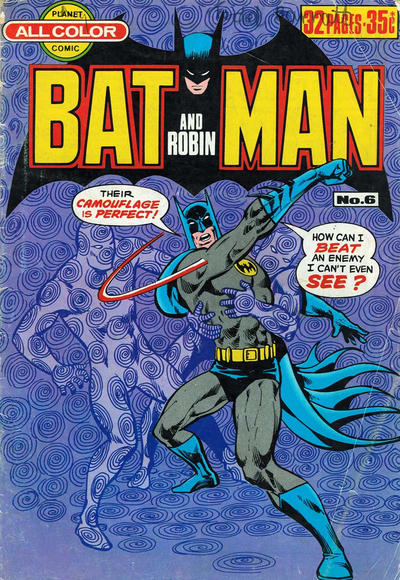 Cover for Batman and Robin (K. G. Murray, 1976 series) #6