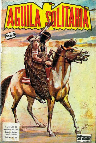 Cover for Aguila Solitaria (Editora Cinco, 1976 ? series) #66