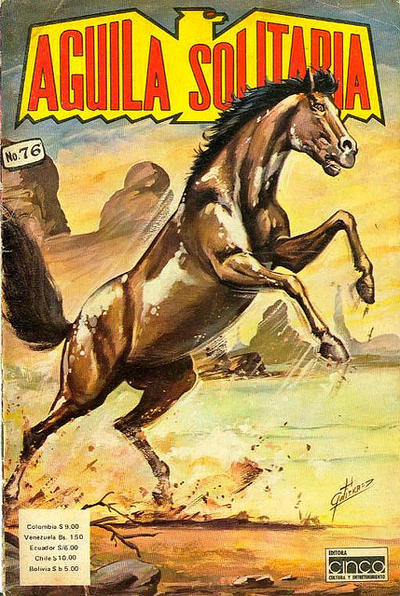 Cover for Aguila Solitaria (Editora Cinco, 1976 ? series) #76