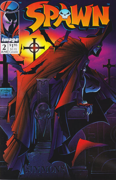 Cover for Spawn (Image, 1992 series) #2 [Direct]