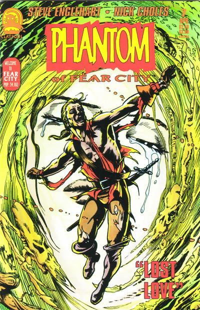 Cover for Phantom of Fear City (Claypool Comics, 1993 series) #7