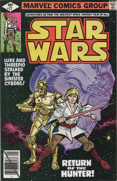 Cover for Star Wars (Marvel, 1977 series) #27 [Newsstand Edition]