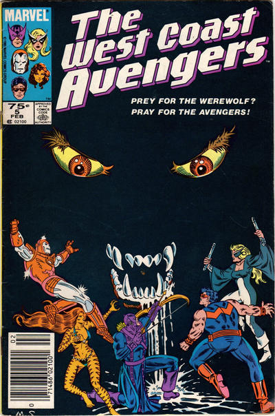 Cover for West Coast Avengers (Marvel, 1985 series) #5 [Newsstand Edition]