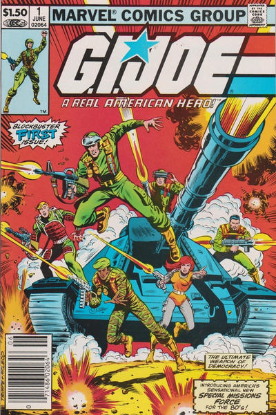 Cover for G.I. Joe, A Real American Hero (Marvel, 1982 series) #1 [Direct Edition]