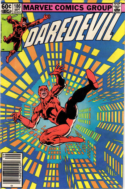 Cover for Daredevil (Marvel, 1964 series) #186 [Newsstand Edition]