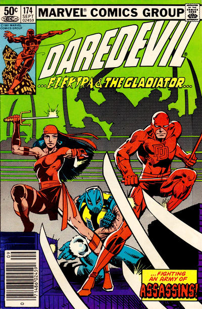 Cover for Daredevil (Marvel, 1964 series) #174 [Direct Edition]