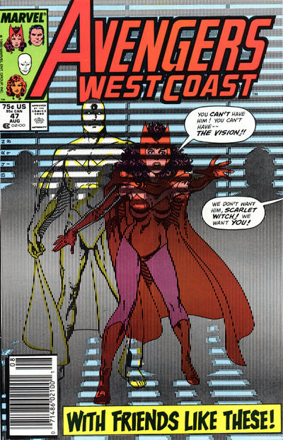 Cover for West Coast Avengers (Marvel, 1985 series) #47 [Direct Edition]