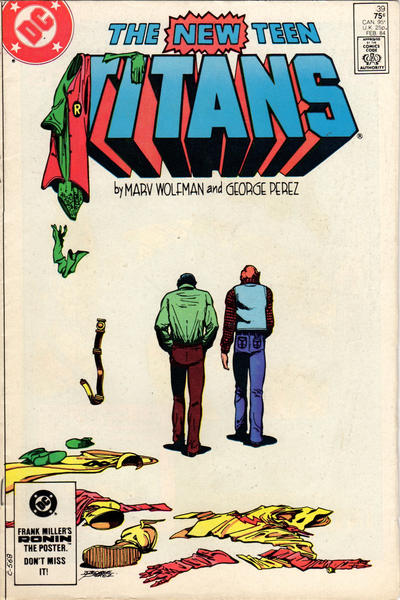 Cover for The New Teen Titans (DC, 1980 series) #39 [Newsstand]