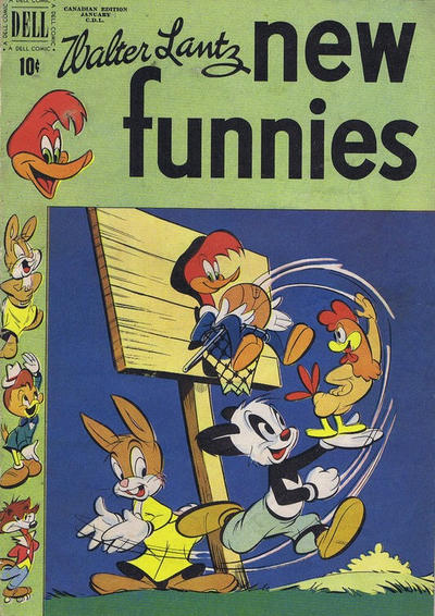 Cover for Walter Lantz New Funnies (Wilson Publishing, 1948 series) #166