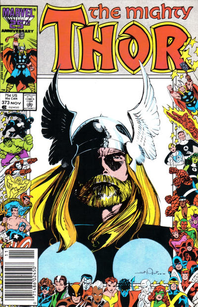 Cover for Thor (Marvel, 1966 series) #373 [Direct Edition]