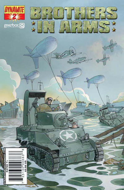 Cover for Brothers in Arms (Dynamite Entertainment, 2008 series) #2