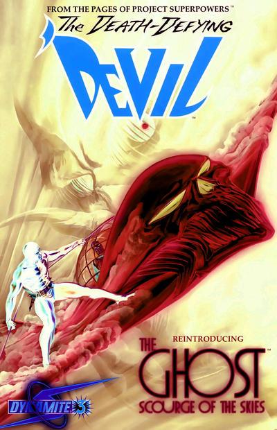 Cover for Death-Defying 'Devil (Dynamite Entertainment, 2008 series) #3 [Negative Art Retailer Incentive - Alex Ross]