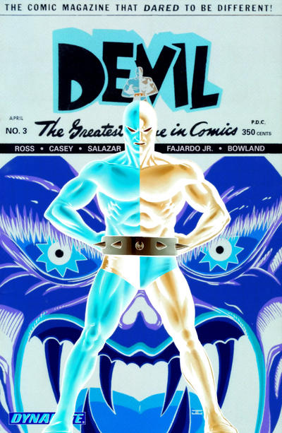 Cover for Death-Defying 'Devil (Dynamite Entertainment, 2008 series) #3 [Negative Art Retailer Incentive  - John Cassaday]